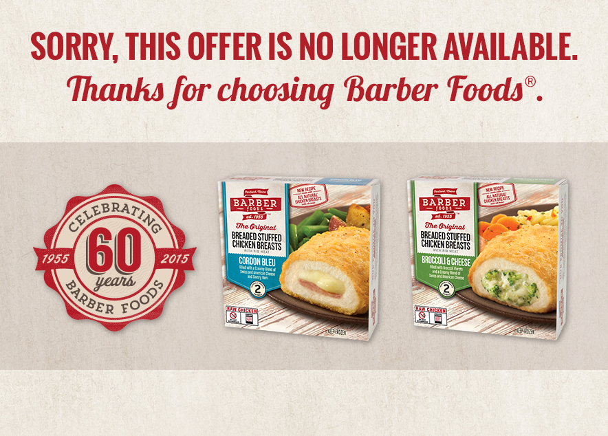 Coupon Share Barber Foods